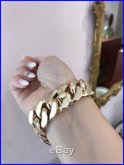 Authentic Vintage CARTIER PARIS Curb Link Bracelet in 18k Yellow Gold - HM1971X
