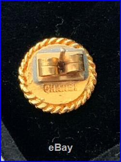 Authentic Vintage Coco CHANEL Button Earrings