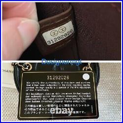 BNIB 100%AUTH CHANEL 21S Black Lambskin Mini Vanity Bag With Chain Gold Hardware