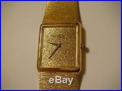 Bueche Girod Solid 18k Yellow Gold Wrist Watch France! Vintage