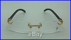 CARTIER Brown and Gold Frames 61399811 53-18-140 Made in France