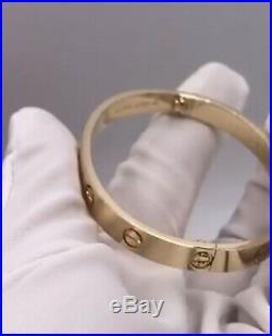 CARTIER Love Bracelet 18k yellow Gold Sz 16 100% Authentic! New System