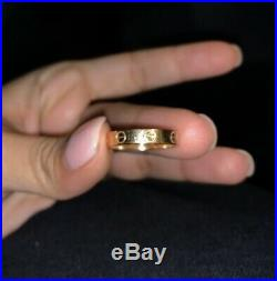 CARTIER Love Ring 18K Yellow Gold Size 52 US 6