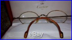CARTIER Vintage Prescription Gold tone Eyeglasses Paris France With Box