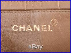 CHANEL Beige Quilted Leather Maxi Jumbo XL 24K Gold Chain Flap Shoulder Bag