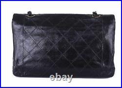 CHANEL Black Leather Diana Small Flap 24K Gold CC Shoulder Bag Crossbody Purse