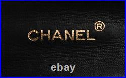 CHANEL Black Leather Quilted Small Flap 24K Gold CC Shoulder Bag Crossbody Purse