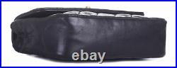 CHANEL Black Leather Rectangular Mini Flap Gold CC Chain Crossbody Shoulder Bag