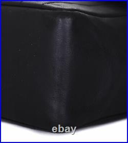 CHANEL Black Leather Vertical Line Classic Flap 24K Gold CC Shoulder Bag