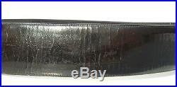 CHANEL Black Patent Leather Gold Tone CC Double Logo Buckle Wide Belt VINTAGE 70