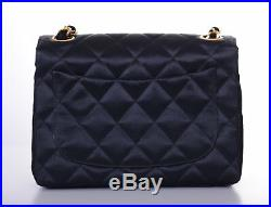 CHANEL Black Quilted Gold CC Classic Mini Flap Crossbody Bag Purse