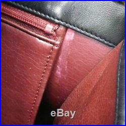 CHANEL Black Quilted Pushlock Flap Lambskin Matelasse Chain Shoulder Bag France