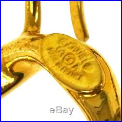 CHANEL CC COCO Gold Chain Belt Black Leather Vintage Authentic AK31393f