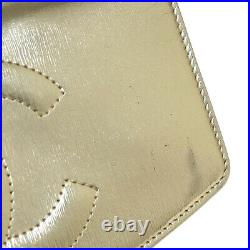 CHANEL CC Chain Shoulder Wallet Bag 12042341 Purse Gold Leather Vintage A41608e