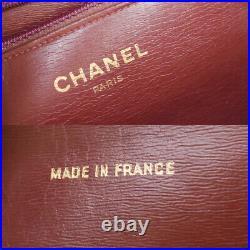 CHANEL CC Logo Matelasse Chain Shoulder Bag Leather Black Gold Vintage 609LB458