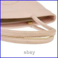CHANEL CC Logo Shoulder Tote Bag Caviar Skin Leather Pink Gold France 16BT878