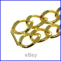CHANEL CC Logos Medallion Charm Gold Chain Belt Accessories Vintage AK34865