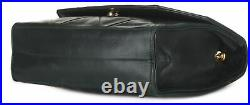 CHANEL Dark Green Leather Quilted Flap Gold Chain Shoulder Bag Crossbody Purse