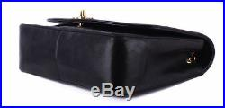 CHANEL Diana Flap Black Quilted Leather Gold Chain Crossbody Shoulder Bag Purse
