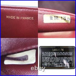 CHANEL Double Flap Chain Shoulder Bag Black Leather Vintage Authentic #SS851 Y