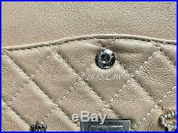 CHANEL Gold Lucky Charms Bag Pearly Beige Medium 2.55 Reissue Classic Flap Purse