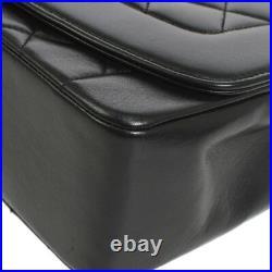 CHANEL Medium Diana CC Single Chain Shoulder Bag Black Leather VTG AK35517e