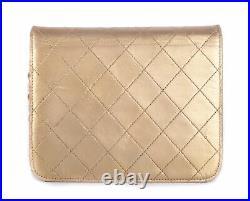 CHANEL Mini GHW Gold Vertical Leather Chain CC Mini Flap Crossbody Bag Purse