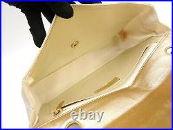 CHANEL New Travel Line Chocolate Bar Shoulder Bag Nylon Canvas Gold A15285 V4439