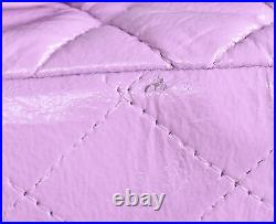CHANEL Purple Leather Square Mini Classic Flap Gold CC Crossbody Bag
