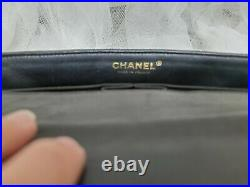 CHANEL Quilted CC Single Flap Shoulder Bag Lambskin Leather with Gold hardware