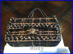 CHANEL Tweed Medium Classic Flap Cruise Collection Bronze Black Beige