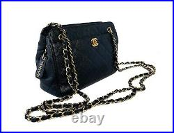 CHANEL Vintage Caviar Camera Turnlock Double Chain Bag 24k Gold Hardware