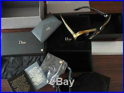 CHRISTIAN DIOR SUNGLASSES GLOSSY GOLD SOLID 18 Kt LIM. EDITION 500, NEW, RARE