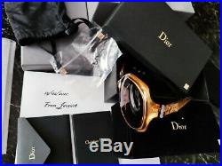 CHRISTIAN DIOR SUNGLASSES GLOSSY SOLID GOLD 18 Kt LIM. EDITION 500, RAREST, NEW
