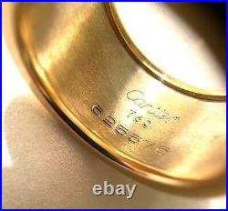 Cartier 18K White And Yellow Gold Walking Panthere Ring