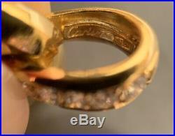 Cartier 18K Yellow Gold Diamond Panthere Pendant