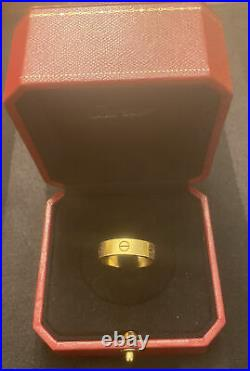 Cartier 18K Yellow Gold Love Ring Size 62