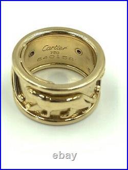 Cartier 18K Yellow Gold Walking Panthere Ring