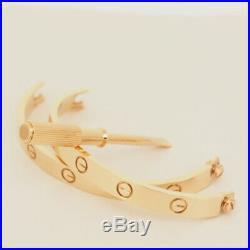 Cartier 18k Rose Gold Gorgeous Love Bracelet Size 17 New Screw System