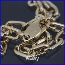 Cartier 18k Yellow Gold Spartacus Link Chain Bracelet With Box