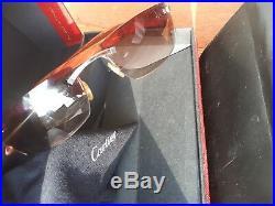 Cartier C Dècor Bubinga WOOD RIMLESS Sunglasses Occhiali Brille Lunette Frames