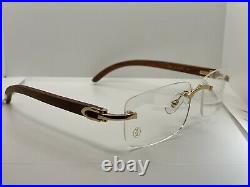 Cartier C Decor Buffalo Buffs Sunglasses CT112443 001 Gold Frame Brown