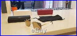 Cartier C Decor Sunglasses 18k GOLD Rimless Mirrored