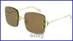 Cartier C Decor Sunglasses Big C 18k Gold Mirrored lens New Model Rimless