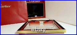 Cartier C Decor Sunglasses Big C New Model 18k Gold With Custom Lenses Rimless