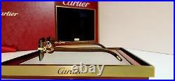 Cartier C Decor Sunglasses Italian Poplar Wood 18k GOLD Mirrored Not Bubinga