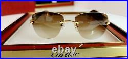 Cartier C Decor Sunglasses Italian Poplar Wood 18k GOLD (not Bubinga)