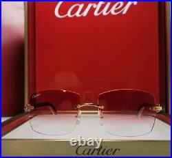 Cartier C Decor Sunglasses White Buffalo Horn 18k Gold Custom Cherry Buffs