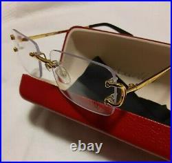Cartier C decor clear glasses
