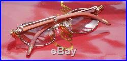 Cartier Custom Acrylic Bezel Rosewood Lens Buffalo C Decor Buffalo Sunglasses